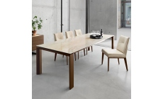 Calligaris Omnia - CS/4058-LV160 Cement Ceramic Top Ext Dining Table 160 x 90cm Extends To 220cm