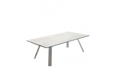 Cantania - Coffee Table With White Marbled Ceramic Top