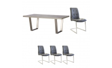 Amarna - 200cm Dining Table And 4 Caden Chairs