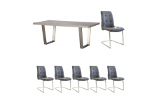 Amarna - 200cm Dining Table And 6 Caden Chairs