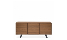 Calligaris Secret - CS/6053-2 2 Door 3 drawer Sideboard P201 Walnut Frame & P16 Matt Grey Base