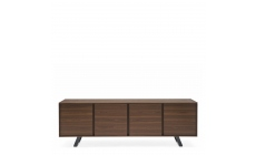 Calligaris Secret - CS/6053-3 4 Door Sideboard P12 Smoke Frame & P16 Matt Grey Base