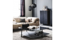 Cattelan Italia Biplane - Coffee Table With Flume Glass Top