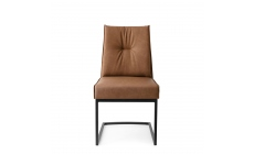 Calligaris Romy - CS/1906-V Dining Chair In S0B Tobacco With P15 Matt Black Frame