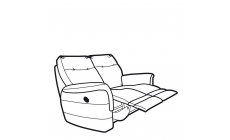 Parker Knoll Hudson Fabric - Power Double Recliner 2 Seat Sofa