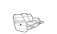 Parker Knoll Hudson Fabric - Manual Double Recliner 3 Seat Sofa