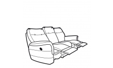 Parker Knoll Hudson Fabric - Power Double Recliner 3 Seat Sofa