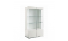 Bernini - 2 Door Curio Cabinet White High Gloss