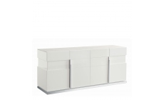 Bernini - 4 Door Buffet White High Gloss