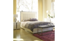 Selina - Bed Frame With Sprung Slats In High White Gloss With Lights