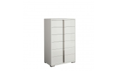 Selina - 6 Drawer Chest In White High Gloss
