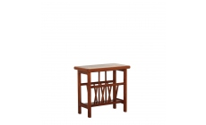 Iberia - Magazine Table Slate/White Tile Top In Stained French Cherry Finish