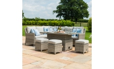 Oyster Bay - Corner Garden Dining Set with Rising Table Including Ice Bucket