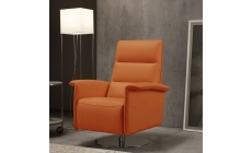 Viaggio - Swivel Chair With Manual Recliner In Microfibre