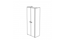 Venice - 2 Door Hinged Wardrobe High Gloss Cream Lacquer