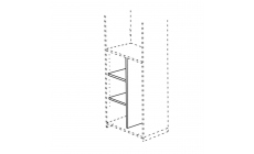 Venice - 108cm Low Dividing Panel With 2 Shelves For 2 Door Module