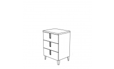 Venice - Drawer Unit For Vanity Unit High Gloss Cream Lacquer