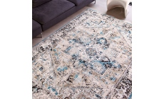 Antiquarian Collection Antique Heriz Rug 8708 Golden Horn Beige 290 x 390cm