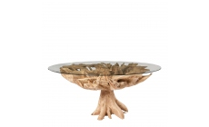 Java - 130cm Dining Table With Glass Top