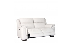 Monza - 2.5 Seat Sofa With Double Power Recliner In CAT 25/Full Leather