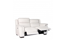 Monza Leather - 2.5 Seat Compact Sofa With Double Power Recliner