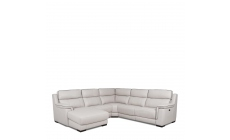 Monza Leather - LHF Chaise Corner Group In Cat 25 Full Leather