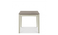 Bremen - 80cm Extending Dining Table In Grey Washed Oak With Soft Grey Finish