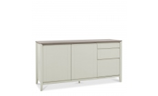 Bremen - Wide Sideboard In Grey Washed Oak With Soft Grey Finish