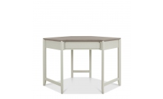Bremen - Corner Desk In Grey Washed Oak With Soft Grey Finish