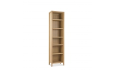 Bremen - Narrow Bookcase With Oak Finish