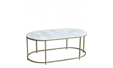 Surat - Brass And Marble Large Coffee Table