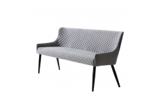 Copeland - Sofa Bench In Grey Velvet Fabric