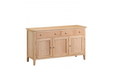 Suffolk - 3 Door Sideboard Oak Finish