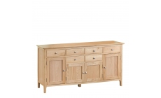 Suffolk - 4 Door Sideboard Oak Finish