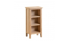 Suffolk - Small Narrow Bookcase Oak Finish
