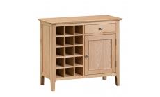Suffolk - Wine Cabinet Oak Finish