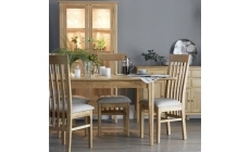 Suffolk - 1.2m Ext Table & 4 Slat Back Chairs Oak Finish