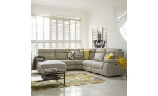 2.5 Seat Compact Sofa With 2 Power Recliners In Fabric