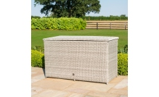 Oyster Bay - Storage Box Light Grey Rattan