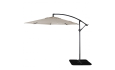 Genoa - 3m Free Arm Parasol In French Grey