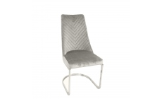 Phoebe - Dining Chair In Light Grey Velvet Fabric