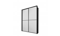 Ottawa - 181cm Gliding 2 Door Robe With Glass Front With Horizontal Trim 0K3A