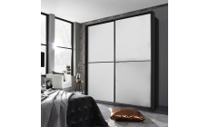 Ottawa - 226cm Gliding 2 Door Robe With Glass Front With Horizontal Trim 0K4A