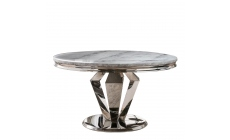 Missano - 130cm Circular Dining Table Grey Marble Top