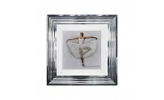 Ballerina 2 White Chrome Stepped Frame 55cm