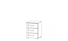 Amalfi - 3 Drawer Bedside Table