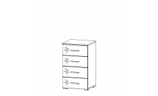 Amalfi - 4 Drawer Narrow Chest