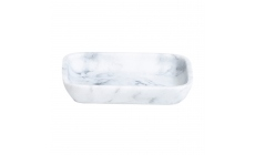 Olivia White Soap Dish