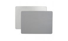 Faux Leather Silver Placemats Set Of 4