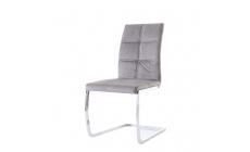 Jordan - Dining Chair Grey Velvet
